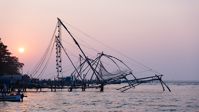 Fishing nets in Kochi, India